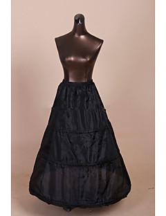 תחתונית  A- קו תחתוניות סליפ שמלת נשף אורךTea 1 רשתות בד טול פוליאסטר שחור