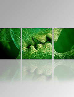 Absztrakt / Botanikus / Modern / Romantikus / Utazás / Szabadidő / Híres / Landscape Vászon nyomtatás Három elem Kész lógni , Négyzet