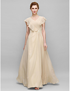 Lanting Sheath/Column Mother of the Bride Dress - Champagne Floor-length Sleeveless Chiffon