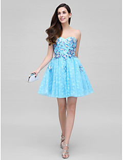 TS Couture Cocktail Party Dress - Pool Ball Gown Sweetheart Short/Mini Lace