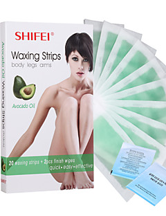 Women Body Armpit Hair Removal Depilatory Avocado Wax Strips