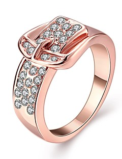 Ring Birthstones Wedding / Party / Daily / Casual Jewelry Zircon / Gold Plated / Opal Women Statement Rings 1pc,6 / 7 / 8 Gold / White