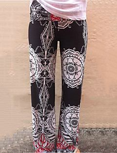Dames Breed Been Jeans Broek,Print Medium taille Katoen / Polyester / Others Rekbaar All Seasons