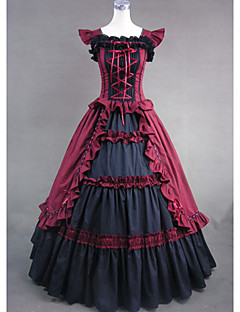 One-Piece/Dress Gothic Lolita Victorian Cosplay Lolita Dress Vintage Sleeveless Long Length Leotard For Cotton