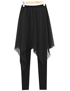 Women's Solid Black Skinny / Harem Pants , Plus Size / Street chic