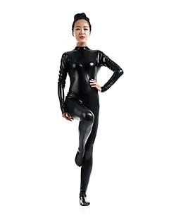 Zentai kombinézy Morphsuit Ninja Zentai Cosplay kostýmy Černá Jednobarevné Leotard/Kostýmový overal Zentai Spandex Lesklá metalíza Unisex