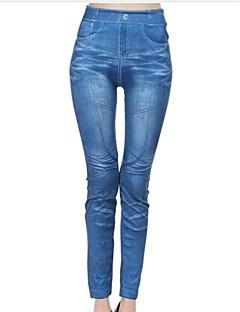 Damer Denim Legging Bomullsblandinger / Polyester Normal