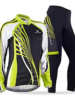 Nuckily Calça com Camisa para Ciclismo Mulheres Manga Longa Moto Camisa/Roupas Para Esporte Conjuntos de Roupas Secagem Rápida A Prova de
