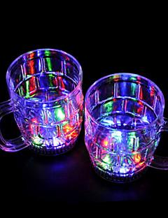bunte LED-Blitz Bierglas (2 PC / 380ml)