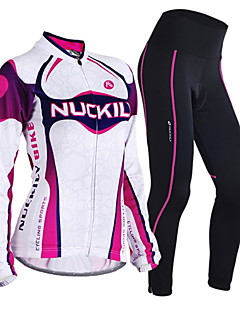 Nuckily Cycling Jersey with Tights Women's Long Sleeve Bike Clothing SuitsThermal / Warm Windproof Anatomic Design Moisture Permeability
