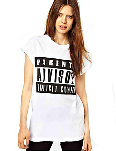 Blomma Kortärmad T-shirt Kvinnors Rund hals Modal