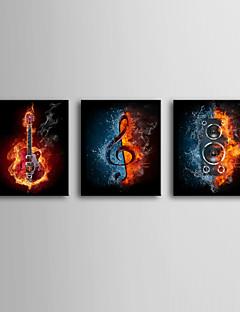 Esticada Paixão Art Canvas Art Pop de Música de Conjunto de 3