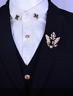 Herrn Damen Edelstein Platiert vergoldet Aleación Modisch Silber Golden Schmuck Hochzeit Party Alltag Normal