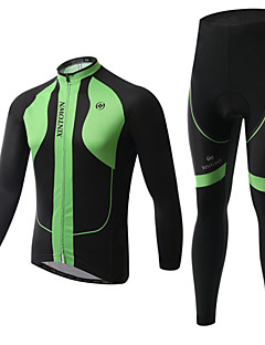 XINTOWN® ג'קט ומגנסיים לרכיבה יוניסקס שרוול ארוך אופניים שמור על חום הגוף / בטנת פליז / מבודד / Anti-Fuzz / 3D לוחמעילי פליז / ג'רזי /