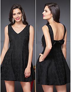Cocktail Party Dress A-line V-neck Short/Mini Polyester
