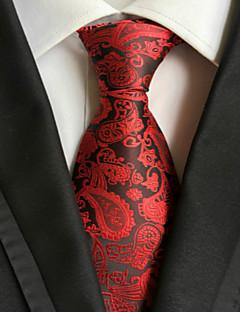 New Red Paisley JACQUARD WOVEN Men's Tie Necktie TIE2003