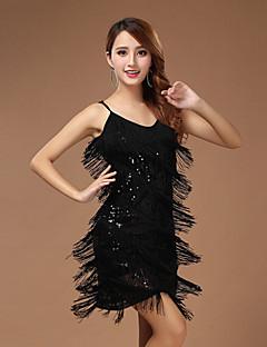 הופעות שמלות בגדי ריקוד נשים ביצועים פוליאסטר חלק 1 בלי שרוולים שמלה