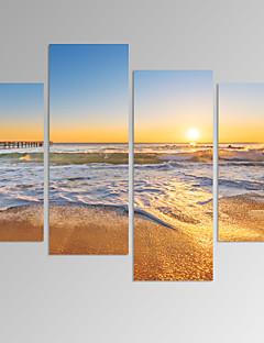 Abstract / Fantasie / Vrije tijd / Landschap / Fotografisch / Modern / Romantisch / Pop Art Canvas Afdrukken Vier panelen Klaar te hangen,