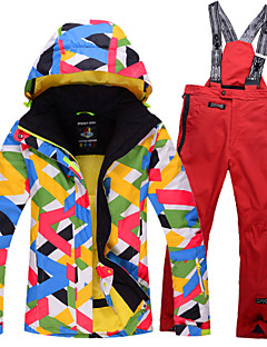 Children Outerwear Warm Coat Sporty Ski Suit Kids Clothes Sets Waterproof Windproof Girls Jackets And Pants B2568