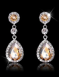 Damen Ohrring Kubikzirkonia Multi-Stone / Kristall Drop Earrings