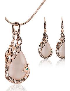 Dame Seturi de bijuterii La modă costum de bijuterii Piatră Preţioasă Păun Σκουλαρίκια Lănțișor Pentru Petrecere Ocazie specială Zi de