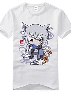 에서 영감을 받다 Kamisama Kiss Tomoe 에니메이션 코스프레 코스츔 코스프레 T 셔츠 프린트 블랙 짧은 소매 티셔츠