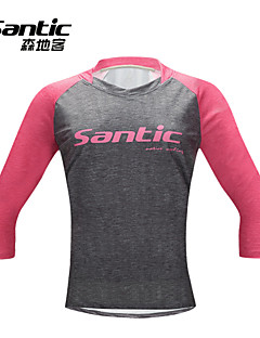 SANTIC® Cycling Jersey Women's Half Sleeve Bike Breathable / Ultraviolet Resistant T-shirt / Jersey / Tops Elastane / TeryleneRetro /