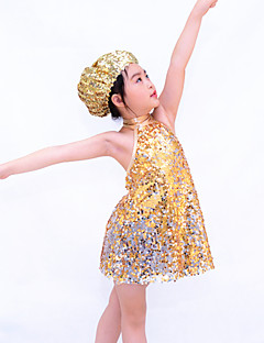Children Dance Dancewear Sequined Children Jazz Dress Jazz Dance outfits