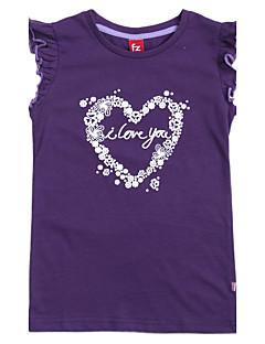 Girl's Tee,Cotton Summer Blue / Brown / Purple
