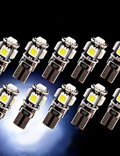 10 x erreur de canbus t10 blanc sans 5-SMD 5050 conduit intérieur ampoules W5W lumière 194 168