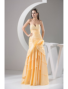 Formal Evening Dress-Daffodil Trumpet/Mermaid Sweetheart Floor-length Taffeta