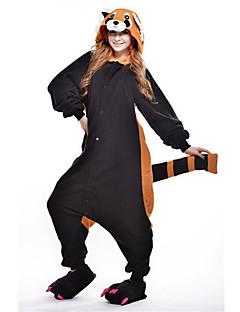 Kigurumi Pajamas New Cosplay® Bear Raccoon Leotard/Onesie Festival/Holiday Animal Sleepwear Halloween Black Patchwork Polar Fleece
