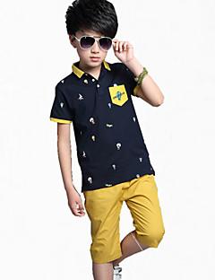 Boy Léto Bavlna Košilky / Kalhoty Barevné bloky