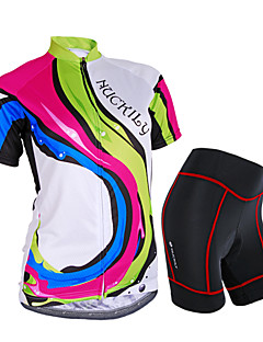 NUCKILY® Cycling Jersey with Shorts Women's Short Sleeve BikeWaterproof / Breathable / Rain-Proof / Anti-Eradiation / Sweat-wicking / 3D