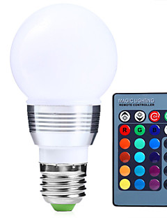 1 pcs dingyao E14 9W High Power LED 650-1000 lm RGB A50 Dimmable / Remote-Controlled LED Globe Bulbs AC 220-240 V