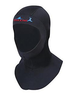 Hat / Diving Hoods 3mm Diving Hoods Women's / Men's / Unisex For Swimming / Diving Ultraviolet Resistant / Thermal / Warm BlackS / M / L