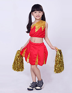 Cheerleader Costumes Children's Fashion Performance Sequins 2 Pieces Outfits Dance Costumes