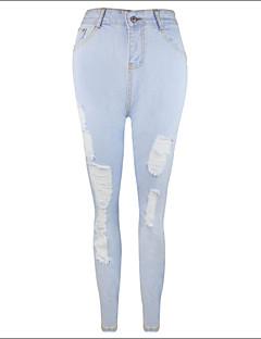 Kvinner Sexy / Vintage / Arbeid / Fritid / Ferie / Søt / Aktiv / Punk & Gotisk / Bodycon Jeans Bukser Bomull / Modal Mikroelastisk