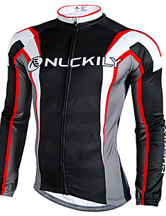 NUCKILY® Cycling Jacket Men's Long Sleeve Bike Waterproof / Thermal / Warm / Windproof / Rain-Proof / Reflective Strips Jersey / Tops