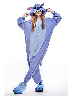 kigurumi Pajamas New Cosplay® / Stitch / Monster Malha Collant/Pijama Macacão Halloween Pijamas animal Azul Patchwork Malha polar Kigurumi
