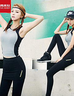 Mulheres Malha Íntima Esporte Respirável / Redutor de Suor / Macio Cinzento S / M / L / XL Ioga / Pilates / Fitness / Corrida-Outros