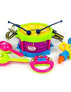 klocka horn hand trumman abs röd / blå / gul / lila musik leksak