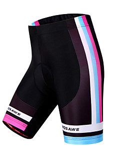 WOSAWE מכנס קצר מרופד לרכיבה לנשים אופניים מכנסיים קצרים שורטים (מכנסיים קצרים) מרופדים תחתיות נושם ייבוש מהיר עמיד מגביל חיידקים 3D לוח