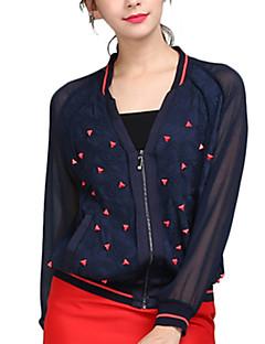 Women's Striped Blue Shirt,V Neck Long Sleeve