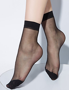 2016 BONAS Brand Casual Crystal Silk Female Short Sokken Thin Fashion Black Socks