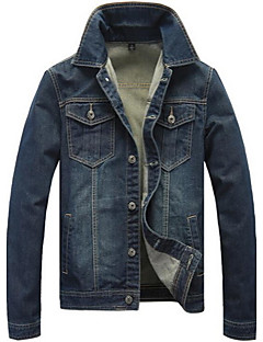Men's Print Long Sleeve Jacket,Cotton Casual / Plus Sizes Tops