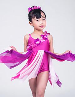 발레 드레스 여성용 / 아동용 성능 라이크라 꽃 / 내기 민소매 높음