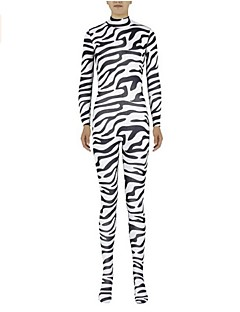 Zentai Suits Ninja Zentai Cosplay Costumes White Animal Print Leotard/Onesie / Zentai Lycra / Spandex Unisex Halloween / Christmas