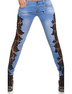 Grote maten / Sexy-Katoen / Polyester-Micro-elastisch-Skinny / Jeans-Broek-Vrouwen