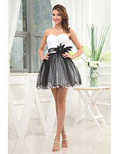 Cocktail Party Dress A-line Strapless Short/Mini Tulle